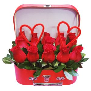 Box de rosas rojas