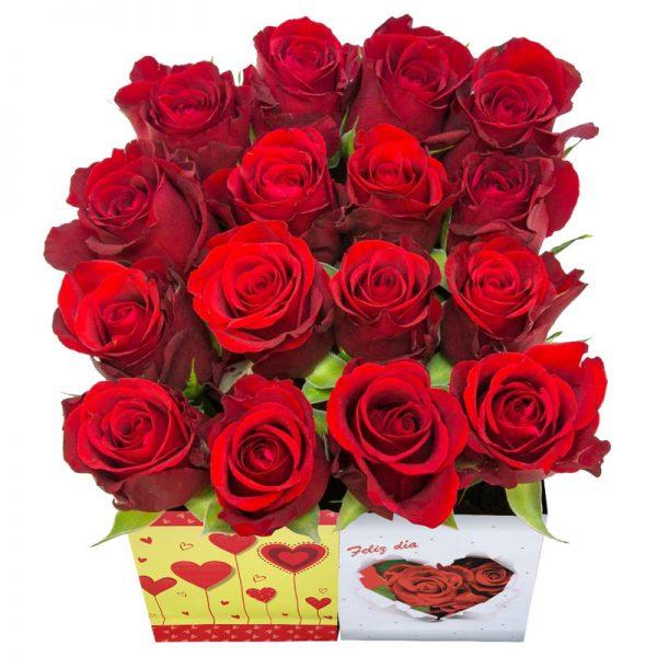 Box de 16 rosas