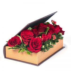 Libro de rosas rojas