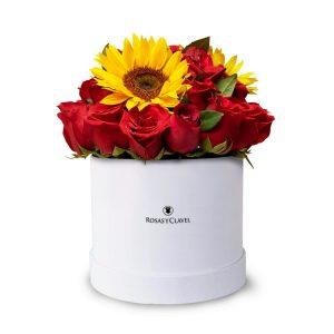 Box de Rosas y Girasoles