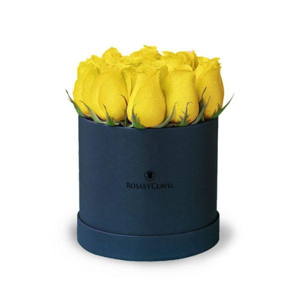 Box con 12 rosas amarillas