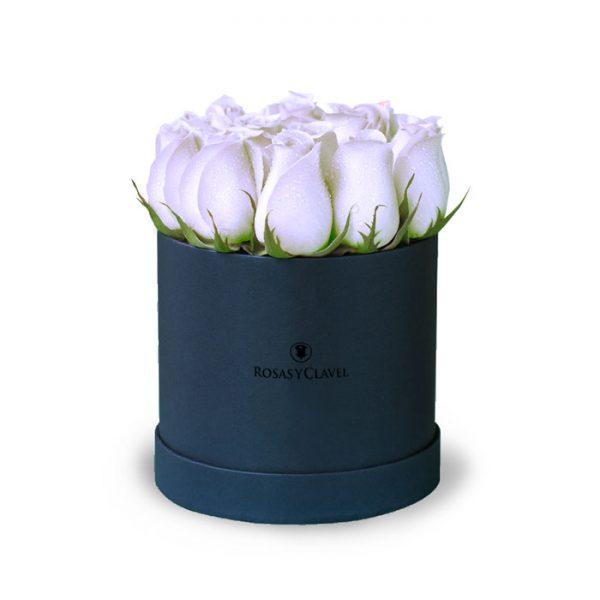 Box con 12 rosas blancas