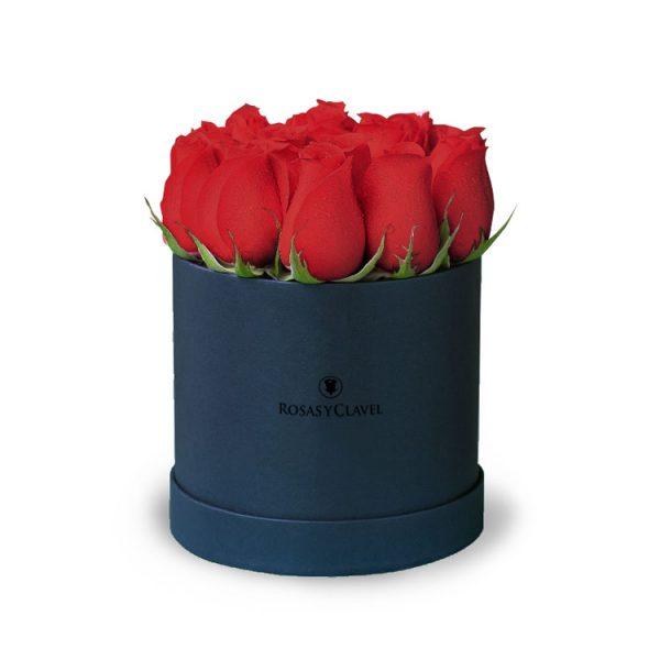Box con 12 rosas rojas